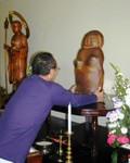Donated Enmei Jizo (life-prolonging stone statue)