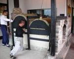 ピザ窯を築窯