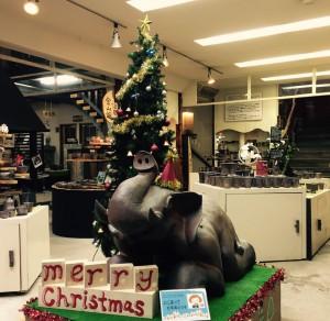 クリスマスツリー&象